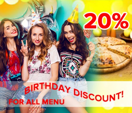 Birthdays 20% discount